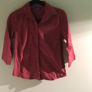 Faconnable womens button down 3/4 sleeve sz xs